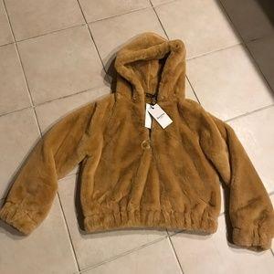Bershka  faux fur hoodie, NEW, M/L